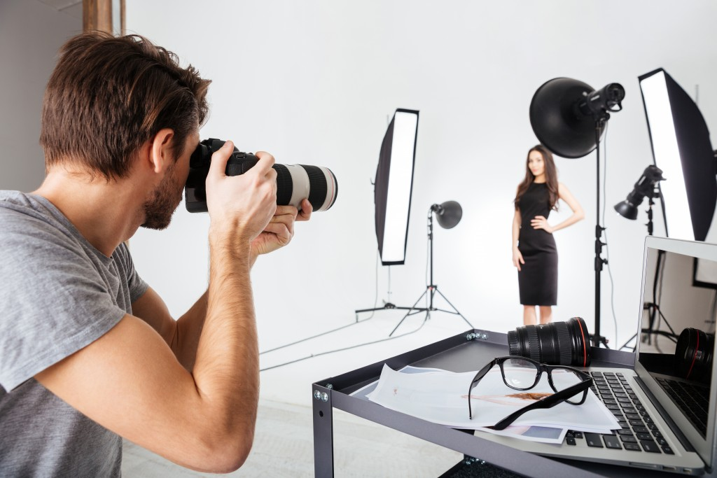 man at a photoshoot